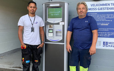 Ny betalingsautomat hos Moss Gjestehavn