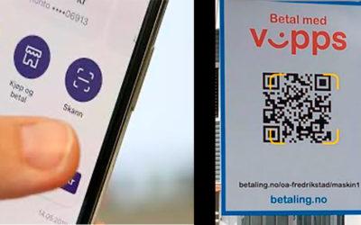 EBS er en av de første i Norge! Våre QR koder kan nå skannes direkte i Vipps appen